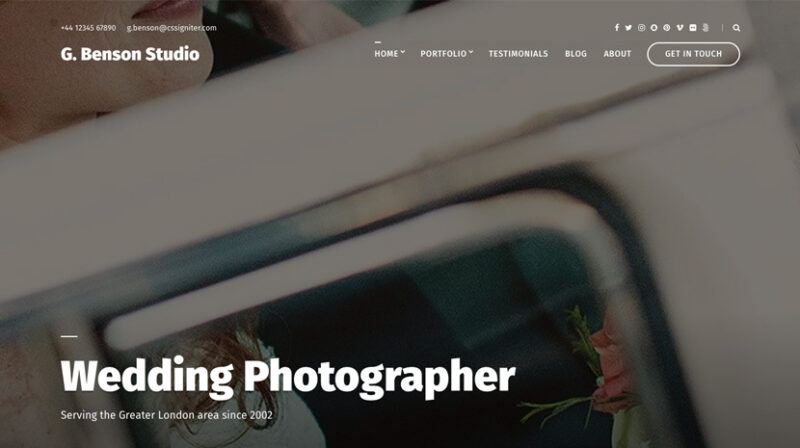 Benson wordpress theme