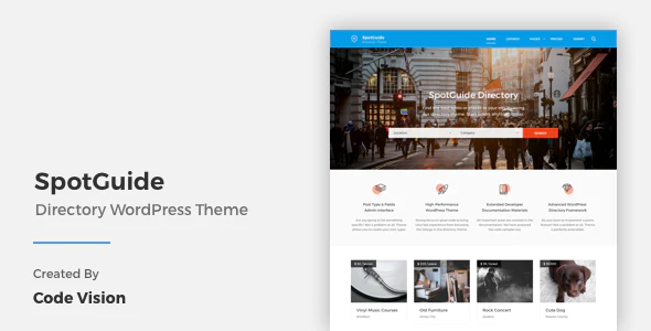 Download Free SpotGuide – High Performance Directory WordPress Theme