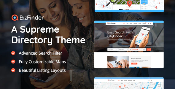 Download Free BizFinder – Business Directory Theme