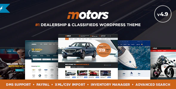 Download Free Motors – Car Dealer and Rental, Classified WordPress theme
