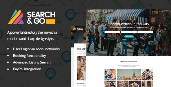 Download Free Search & Go- Directory WordPress Theme