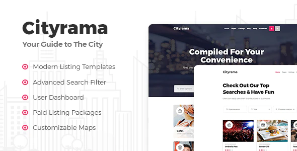 Download Free Cityrama – Listing & City Guide Theme