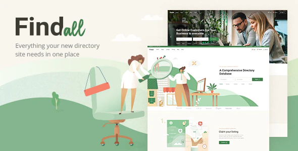 Download Free FindAll -Business Directory Theme