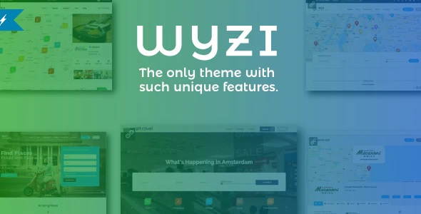 Download Free Wyzi – Business Finder and Service Provider Booking WordPress Social Look Directory Listing Theme