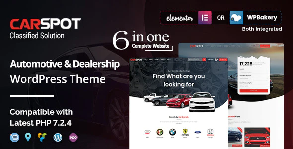 Download Free CarSpot – Dealership WordPress Classified Theme
