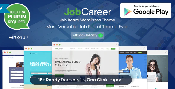 Download Free JobCareer | Job Board Responsive WordPress Theme