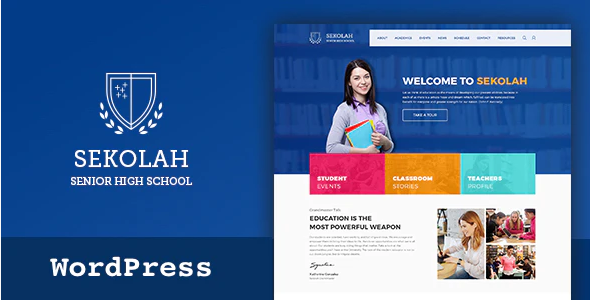 Download Free Sekolah – Senior High School WordPress Theme
