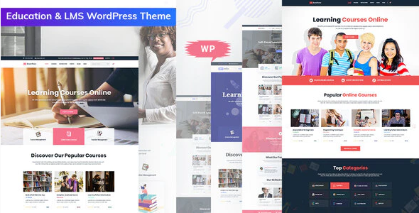 Download Free Bookflare – A Modern Education & LMS WordPress Theme