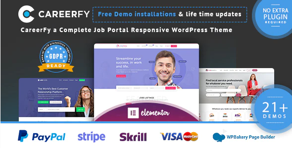 Download Free Careerfy Job Board WordPress Theme