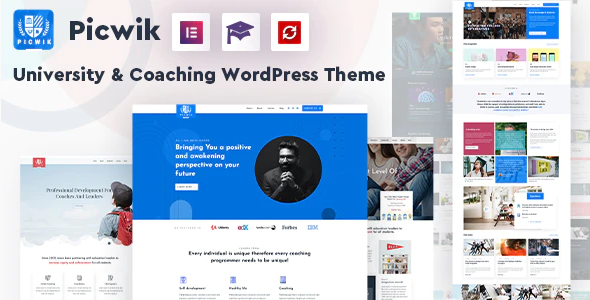 Download Free Picwik – University & Coaching WordPress Theme