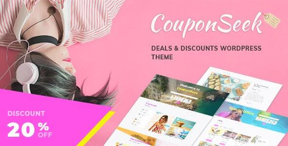 Download Free CouponSeek – Deals & Discounts WordPress Theme