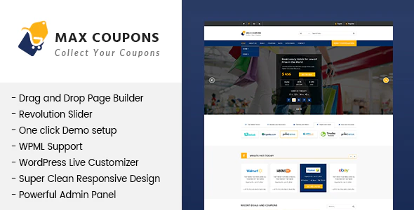 Download Free Max Coupons – Coupony & Deals WordPress Theme