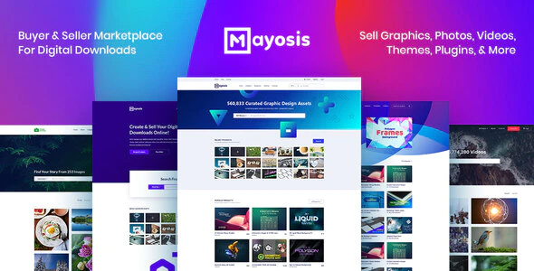 Download Free Mayosis – Digital Marketplace WordPress Theme