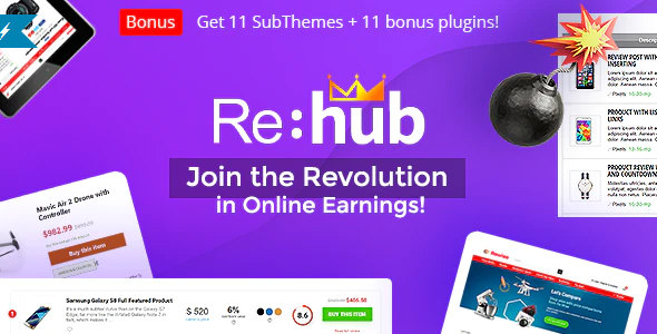 Download Free REHub by sizam – Price Comparison, Multi Vendor Marketplace, Affiliate Marketing, Community Theme