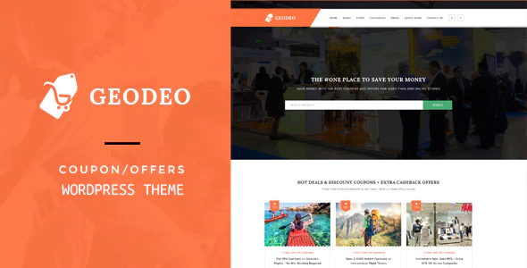 Download Free Geodeo – Coupons & Deals WordPress Theme