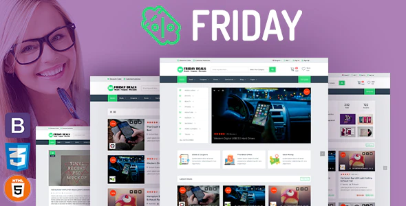 Download Free Friday – Coupons and Deals WordPress Theme
