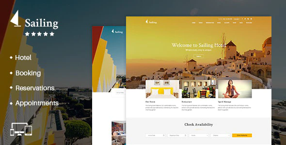 Hotel WordPress Theme Sailing