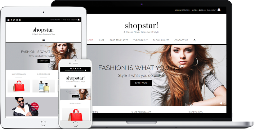 Download Free Shopstar wordpress theme
