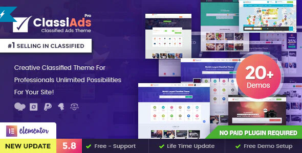 Download Free Classiads – Classified Ads WordPress Theme