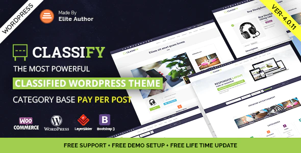 Download Free Classify – Classified Ads WordPress Theme