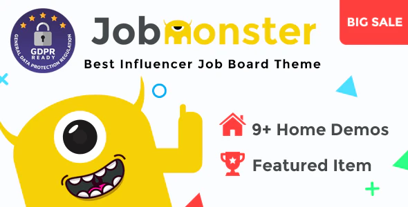 Download Free Jobmonster – Job Board WordPress Theme