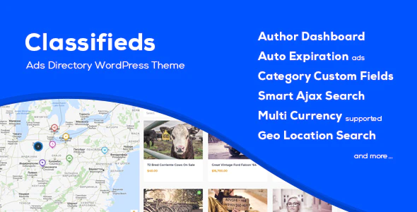 Download Free Classifieds – Classified Ads WordPress Theme
