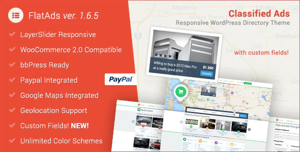 Download Free FlatAds – Classified Ads WordPress Theme